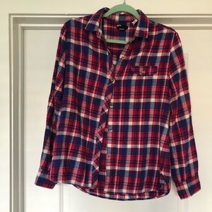 BDG Boyfriend Fit Flannel, medium